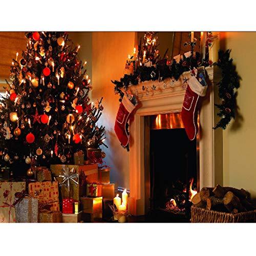 * 2 mt Kamin Weihnachten Fotografie Hintergrund Tuch Kulissen Dekoration Spielzeug ()