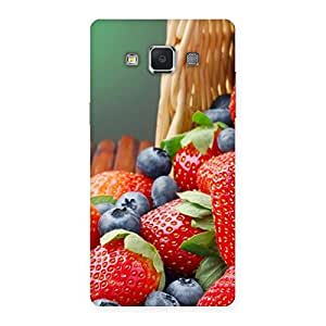 Cute Delicious Straberry Multicolor Back Case Cover for Samsung Galaxy A5