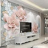 Weaeo Fenster Meer Landschaft Magnolia Blumen Und Vögel Fernseher Sofa Hintergrund Wand Benutzerdefinierte Großes Wandbild Grüner Seide Wallpaper 120 X 100 Cm