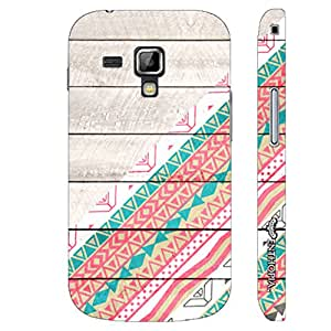 Samsung Galaxy Duos 7562 Wooden Art designer mobile hard shell case by Enthopia