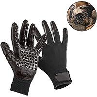 Guantes de Aseo para Mascotas, Pawaca Retiro del Pelo y Masaje de Mascotas Cepillo - Cinco Dedos Diseño Flexibles para Perros / Gatos / Caballo 1 Par (izquierda y Derecha)