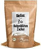 Kokosblütenzucker (1kg, Bio) - 100% Bio - Großpackung Kokos-Zucker - Karamell-Note - fair geandelt - 1zu1 wie Zucker - Abgefüllt und kontrolliert in Deutschland (DE-ÖKO-005) - 1000g Packung