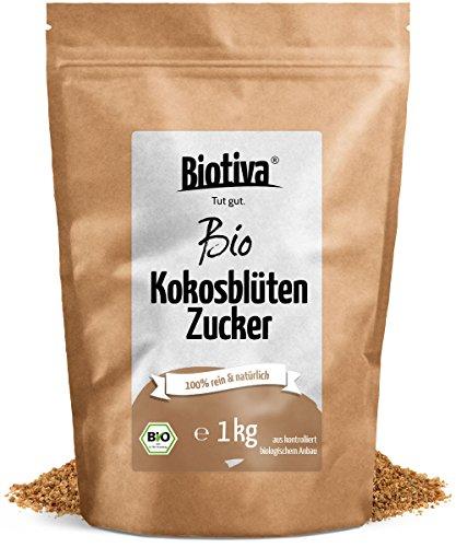 Kokosblütenzucker (1kg, Bio) | 100% Bio | Großpackung mit Preisvorteil | Kokos-Zucker mit...