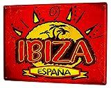 Blechschild Urlaub Reisebüro Ibiza Spanien