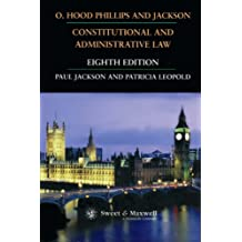 O. Hood Phillips & Jackson: Constitutional and Administrative Law