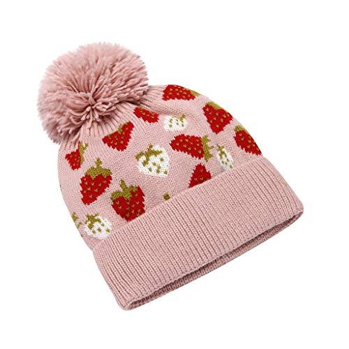 Sillor Strickmütze Frauen Mädchen Winter Warm halten Ohrenschützer Einstellbar Beanie Hüte Damen Fashion Wild Wollmütze mit Bommel
