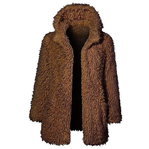 WUSIKY Damen/Mädchen Teddy-Mantel Sherpa-Mantel Warme Outwear Kapuzenjacke Outdoor Jacke Oberbekleidung Winterjacke Windbreaker-Windjacke...