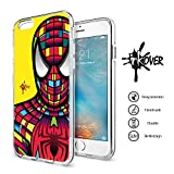 Custodia Cover Guscio Protezione Slim Fit Tpu Flessibile Inkover Hero Supereroi SPIDER MAN iPhone 5 / 5S / SE