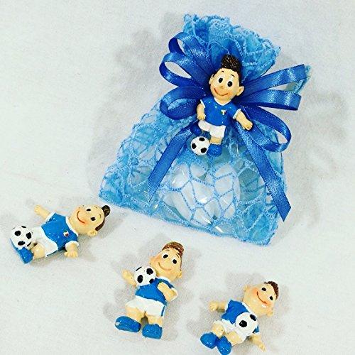Sacchettino bomboniere originali per compleanno nascita battesimo calcio calciatori pallone cresima comunione maschio