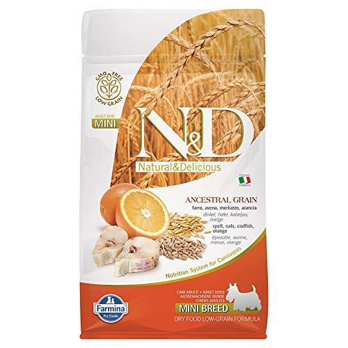 N&d low grain N& d Low Grain Mini con merluzzo e Arancia Secco Cane gr. 800, Multicolore, Unica