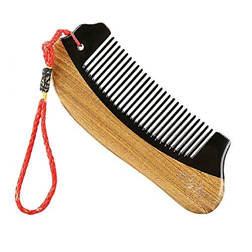 classique peigne portable/peigne en bois/peigne antistatique, marron et noir