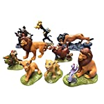 WILDLION Lion King Simba Action Figure A Full Set Of 9 Toy Ornaments
