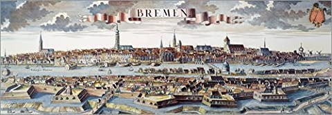 Wood print 60 x 20 cm: Bremen, Germany, 1719 by Granger Collection