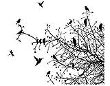 Apalis Fenstersticker No.741 Zweige und Vögel im Herbst, Fensterfolie, Fenstertattoo, Glasaufkleber, Fensterbild, Fensterdeko, Maße: Maße: 15x17cm