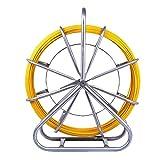 Paneltech 6 mm X 130 M Brin Rigide D'Aiguillage/Tirage De Câble Fibre De Verre Tige de canne Rodder Fiberglass Tirer le câble de fil de pointe Rouler le ruban de poisson