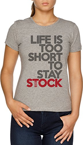 Vendax Life is Too Short to Stay Stock Damen T-Shirt Grau