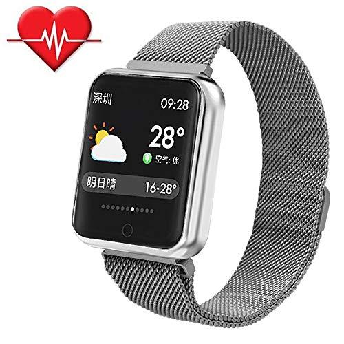 Smart Armband Sport,Farbbildschirm Blutsauerstoff Blutdruckmessgerät/Pulsmesser Sportaktivität Smart Armband Wasserdicht Schritt Uhr Anruf SMS SNS Erinnern für iPhone Samsung Huawei Xiaomi HTC Sony LG