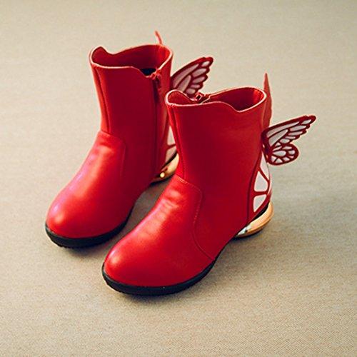 XTIAN , Desert boots fille Rouge