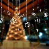 Y-Hui Glas Fenster Sticker Christmas Ornament Anhänger Aufkleber Aufkleber Dress Shop Tapeten Kleber, Weihnachten Anhänger