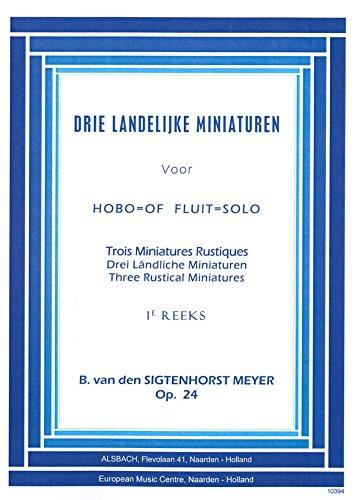 3 Landelijke Miniaturen Opus 24 - Oboe - Buch