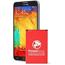 PowerBear Note 3 Batteria | 3200 mAh Li-Ion Batteria per il Samsung Galaxy Note 3 [N9000, N9005 LTE, AT&T N900A, Verizon N900V, Sprint N900P, T-Mobile N900T] | Note 3 Batteria Sostitutiva [24 Mesi Di Garanzia]
