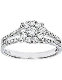 Naava Round Brilliant 0.60ct I/I1 Diamond 18ct White Gold Engagement Ring