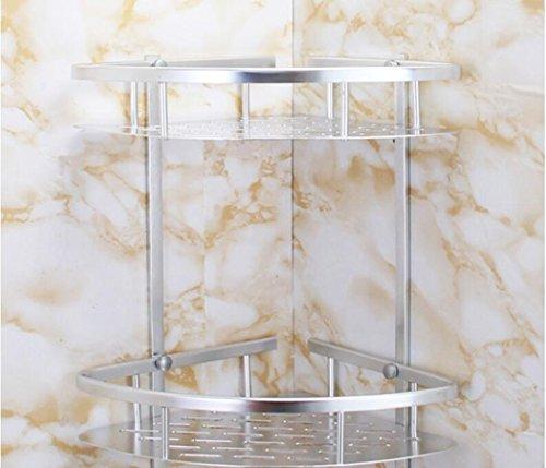 rack bagno alluminio spazio triangolare in alluminio