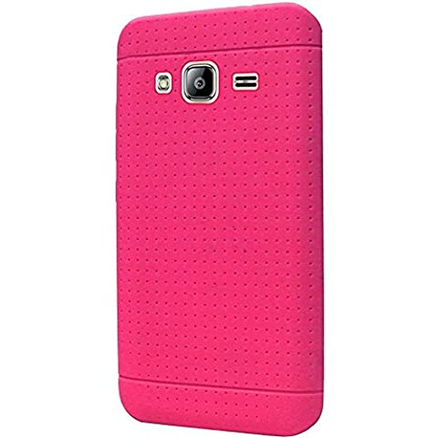 CellularOutfitter Samsung Galaxy Silicone Phone Case - Compatible with J3, J3 (2016), Amp Prime, Express Prime, J3 V, and Sky - Pink