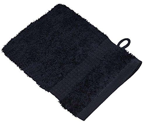 starlabels Serviettes Disponible en 15 couleurs et 5 dimensions doux saugstark 500 g/m², 100% coton, Coton, Noir, 15 cm x 21 cm