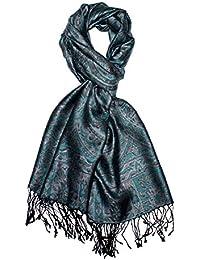 Lorenzo Cana Men's  PaisleyScarf Grey Grey