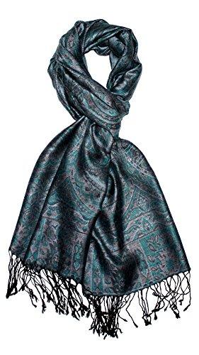 LORENZO CANA Marken Herren Schal Schaltuch Umschlagtuch opulentes Muster in harmonischen Grau Tönen mit Fransen 70 cm x 180 cm 100{882ca2680b54847f6ce4eb91f904dc3fa88bb29885a7d9a430b158f48be96b76} Modal 7810411