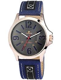 Reloj para hombre analógico Timento, piel, diámetro 46 mm, oro rosa azul - 540031600002