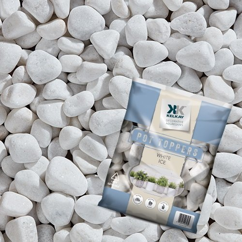 Coloured Stones For Gardens Coloured stones for gardens amazon online garden centre kelkay pot toppers white ice handy pack 20 40mm white coloured stone by workwithnaturefo