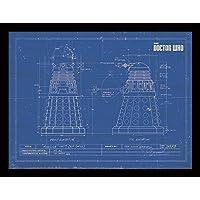 DOCTOR WHO 30 x 40 cm Dalek Blueprint Framed Print