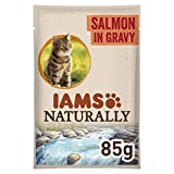 Iams Delights - Wet Food for Cats Adult Iams Naturally Salmon 85 Gr - pack of 24