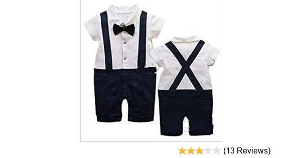 d4b13dc818de1 Baby boys party outfit 6-24 mnths GENTLEMAn Short SLEEVE suit for wedding  christmas birthday(9-12 months)  Amazon.co.uk  Baby