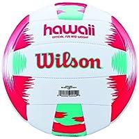 Wilson Pelota de vóley-playa, Exterior, Uso recreativo, Tamaño oficial, AVP HAWAII, Rojo/Turquesa, WTH482696XB