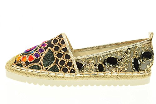 GOLD&GOLD chaussures Espadrilles DS32 BLACK Black
