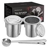 Homemaxs Teesieb Teefilter 304 Edelstahl inklusive 2 maschigen Teesieben und