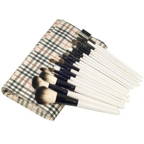 JVJ 20pcs Profi Kosmetik Make up Pinsel set Kosmetik Brush Set Puder-Werkzeug-Satz Makeup Salon Schminkpinsel Komestik Bürste Mit Tasche E004