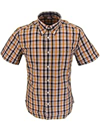 Warrior STAMP Checked 100% Cotton Short Sleeved Shirts