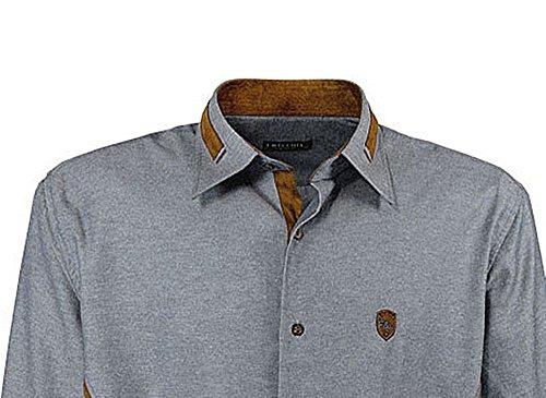 Übergrössen !!! Schickes Herrenhemd LAVECCHIA 140620 4 Farben Blaugrau