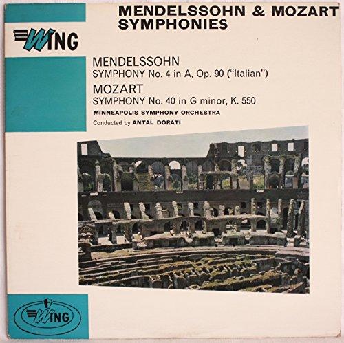 Wing - WL 1038: Mendelssohn - Symphony no 4 ; Mozart - Symphony no 40: Antal Dorati: Minneapolis Symphony Orchestra: Vinyl LP