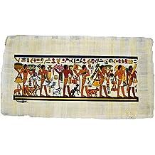 Papiro Egipcio Original, Hecho y Pintado a Mano en Egipto. Representa una Escena Real