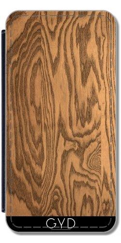 Leder Flip Case Tasche Hülle für Htc One M8 - Holz 5 by BruceStanfieldArtist