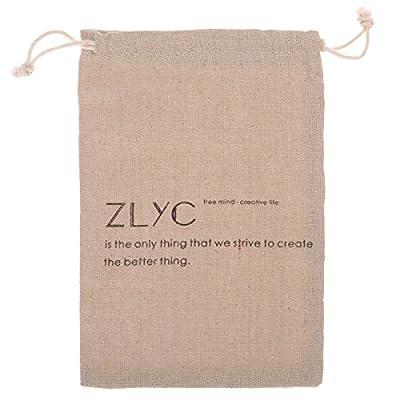 ZLYC Sac Unisexe faite à la main en cuir collection étui à lunettes rigide Étui rigide pour lunettes de soleil en Cuir de Collection Fait main