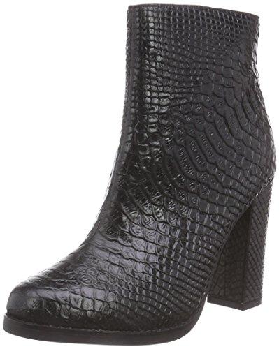 Buffalo London414-7824 SNAKE LEATHER - Stivali classici imbottiti a mezza gamba Donna , Nero (nero (black 01)), 36
