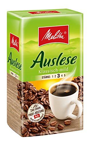 Melitta Gemahlener Röstkaffee, Filterkaffee, vollmundig und mild, milder Röstgrad, Stärke 3,...