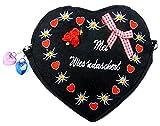 Trachten-tasche Damen-Dirndl Umhänge-Beutel Wisn Oktober Bag Fest (black)