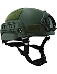 "OneTigris MICH 2002 Acción versión casco táctico Casco ABS para Airsoft Paintball, color OD verde, tamaño Head circumference: 22""- 24"" Weight:660g"